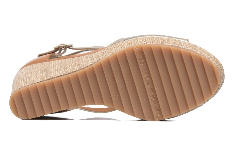 Sandales et nu-pieds S.Oliver Marcusse Or et bronze vue haut