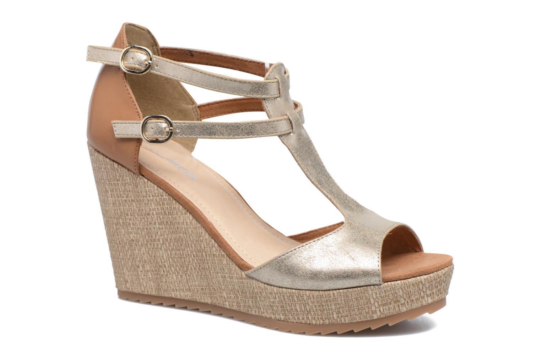 Sandales et nu-pieds S.Oliver Marcusse Or et bronze vue détail/paire