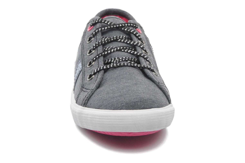 Baskets Le Coq Sportif FERDINAND CHAMBRAY SPARKLES PS Gris vue portées chaussures