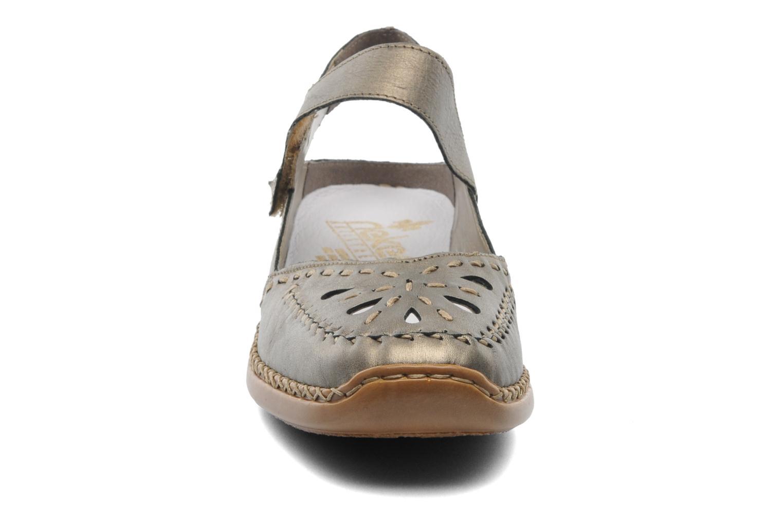 Ballerines Rieker Creamy 41391 Or et bronze vue portées chaussures