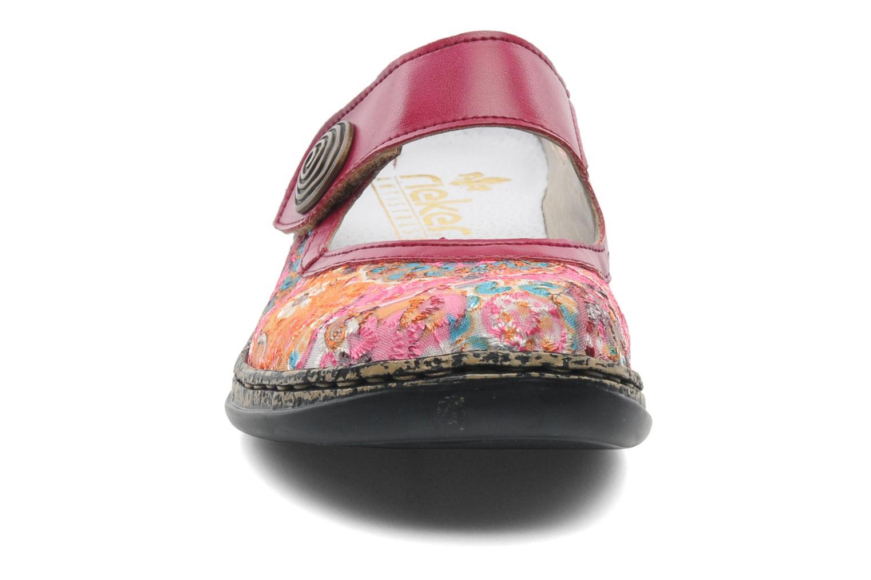 Mules et sabots Rieker Bilia 46385 Rose vue portées chaussures