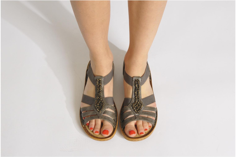 Sandales et nu-pieds Rieker Barock 60841 Marron vue bas / vue portée sac