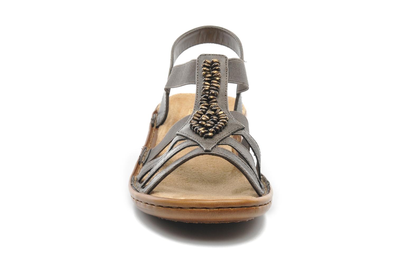 Sandales et nu-pieds Rieker Barock 60841 Marron vue portées chaussures