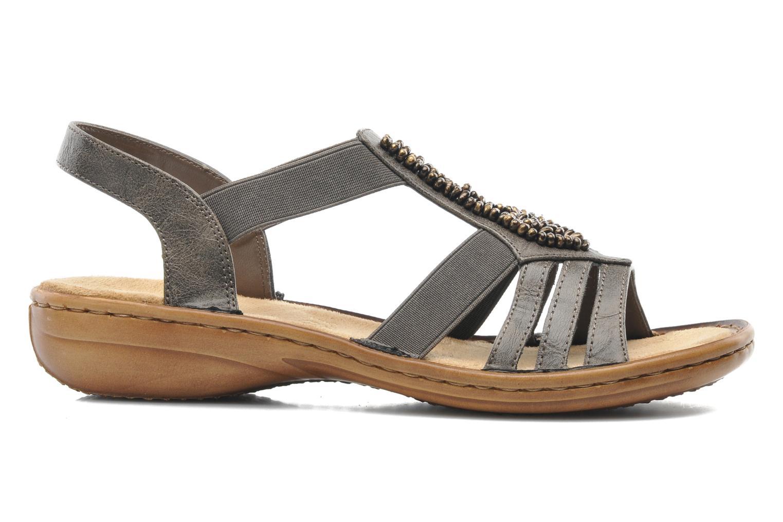 Sandales et nu-pieds Rieker Barock 60841 Marron vue derrière