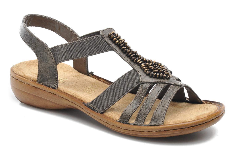 Sandales et nu-pieds Rieker Barock 60841 Marron vue détail/paire