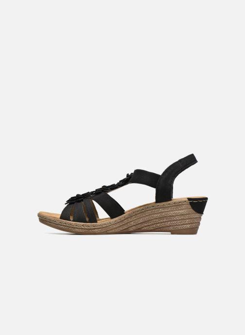 Sandales et nu-pieds Rieker Deena Noir vue face