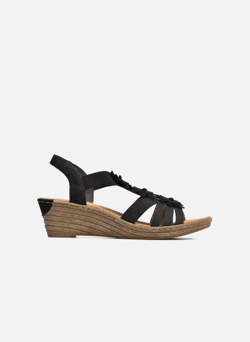 Sandales et nu-pieds Rieker Deena Noir vue derrière