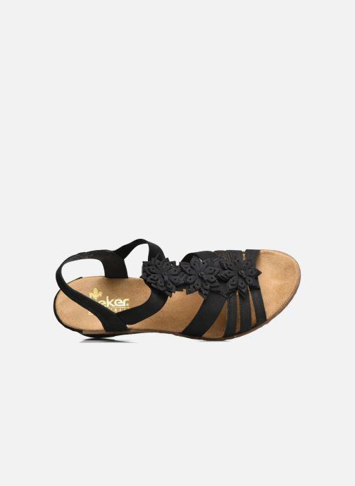 Sandales et nu-pieds Rieker Deena Noir vue gauche