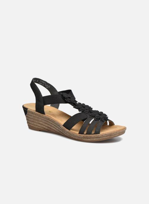 Sandales et nu-pieds Rieker Deena Noir vue détail/paire