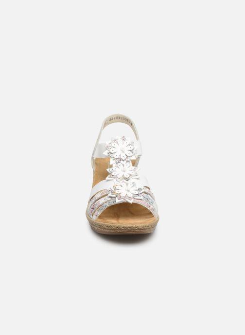 Sandales et nu-pieds Rieker Deena 62461 Blanc vue portées chaussures
