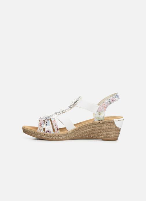 Sandales et nu-pieds Rieker Deena 62461 Blanc vue face