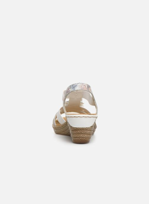 Sandals Rieker Deena 62461 White view from the right