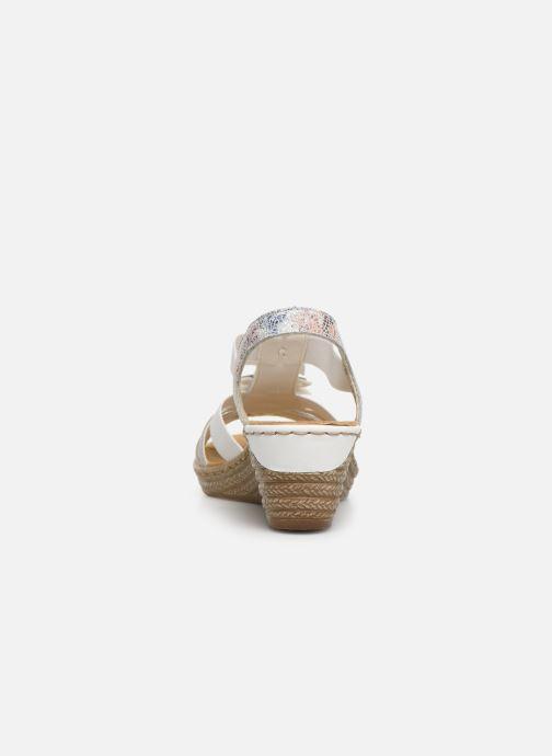 Sandales et nu-pieds Rieker Deena 62461 Blanc vue droite