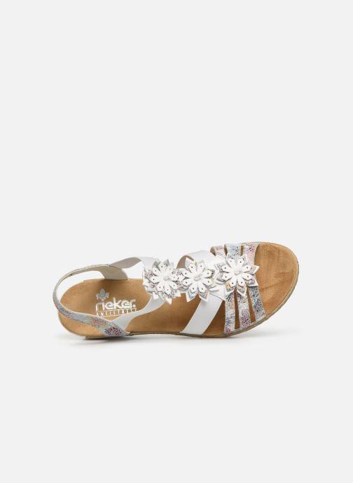 Sandales et nu-pieds Rieker Deena 62461 Blanc vue gauche