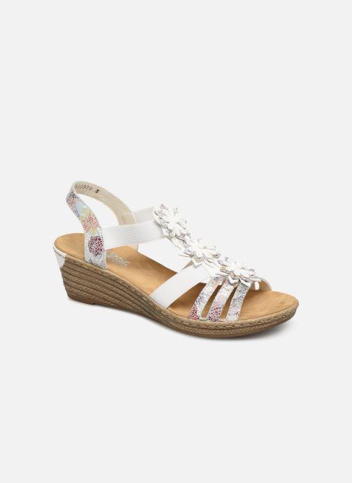 Sandales et nu-pieds Rieker Deena 62461 Blanc vue détail/paire