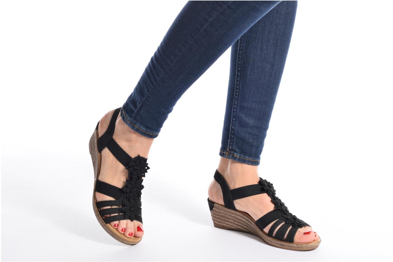Sandales et nu-pieds Rieker Deena 62461 Noir vue bas / vue portée sac