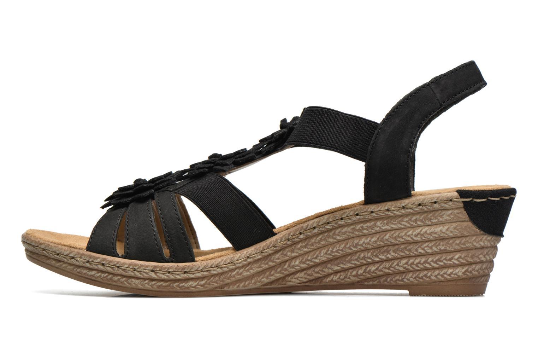 Sandales et nu-pieds Rieker Deena 62461 Noir vue face
