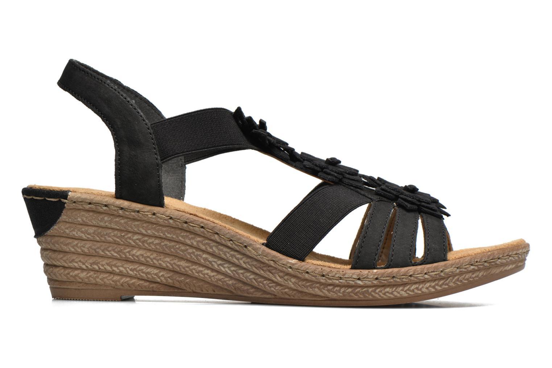 Sandales et nu-pieds Rieker Deena 62461 Noir vue derrière