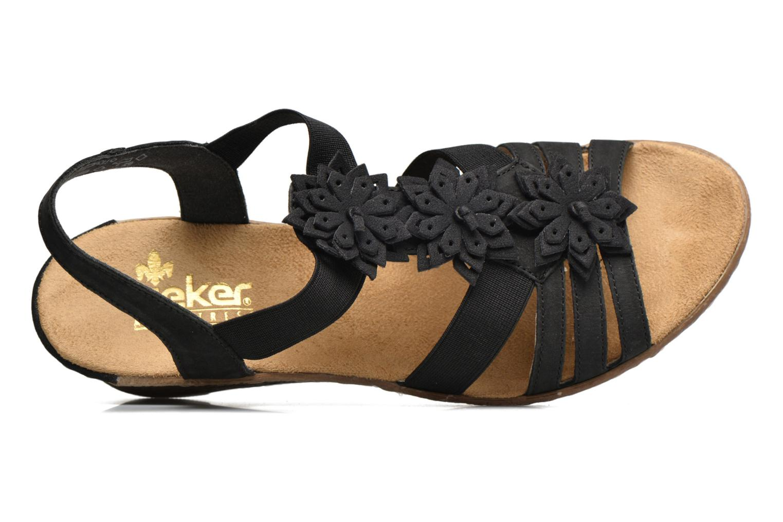 Sandales et nu-pieds Rieker Deena 62461 Noir vue gauche