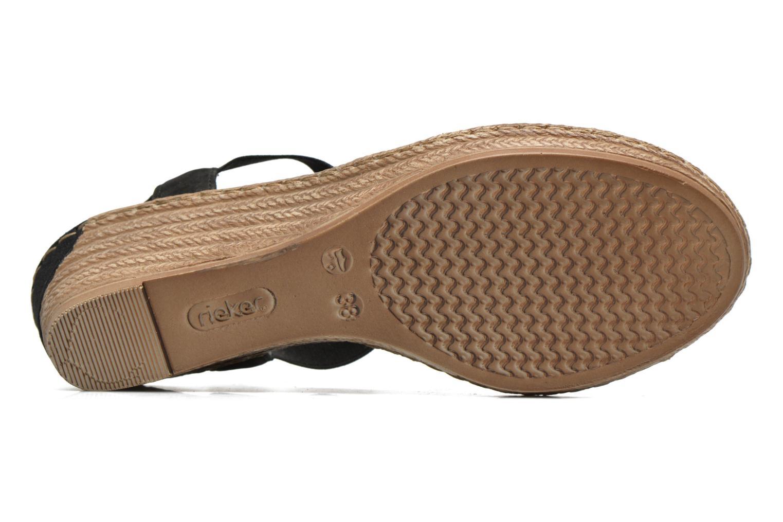 Sandales et nu-pieds Rieker Deena 62461 Noir vue haut