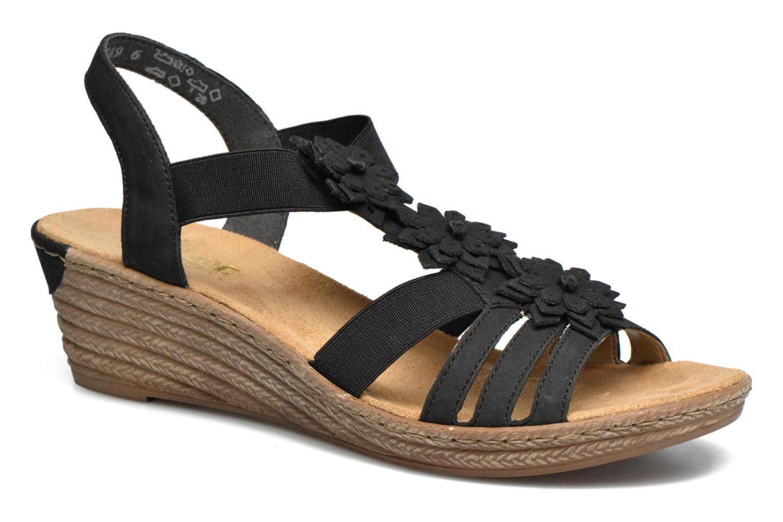 Sandales et nu-pieds Rieker Deena 62461 Noir vue détail/paire