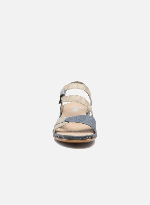 Sandales et nu-pieds Rieker Poppy Bleu vue portées chaussures