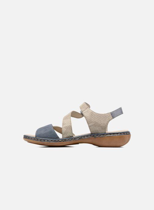 Sandales et nu-pieds Rieker Poppy Bleu vue face