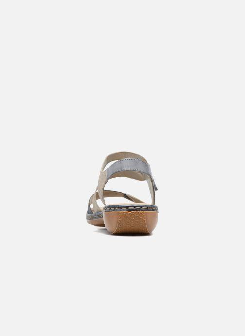 Sandales et nu-pieds Rieker Poppy Bleu vue droite