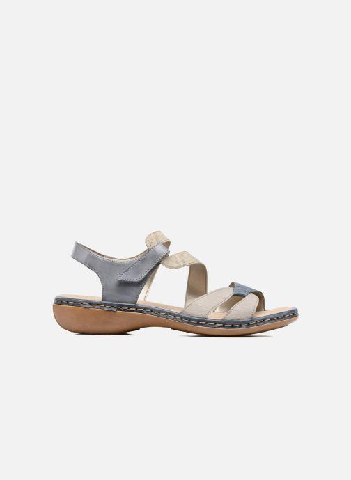 Sandales et nu-pieds Rieker Poppy Bleu vue derrière
