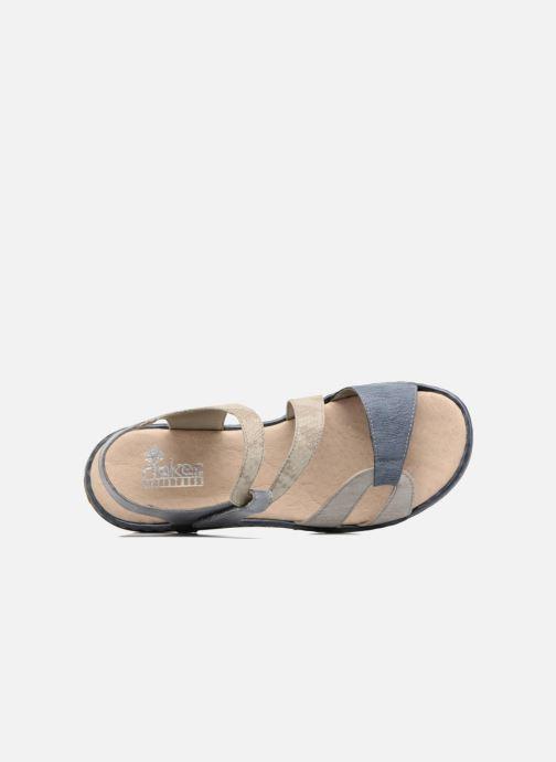 Sandales et nu-pieds Rieker Poppy Bleu vue gauche