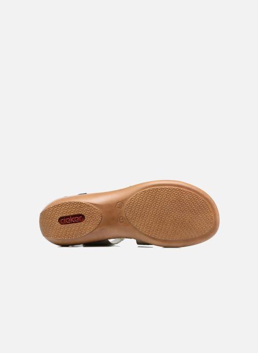 Sandales et nu-pieds Rieker Poppy Bleu vue haut