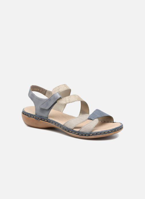 Sandales et nu-pieds Rieker Poppy Bleu vue détail/paire