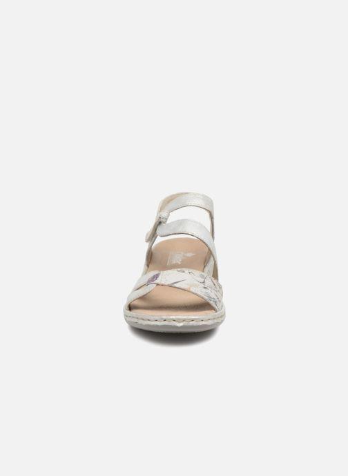 Sandali e scarpe aperte Rieker Poppy Argento modello indossato