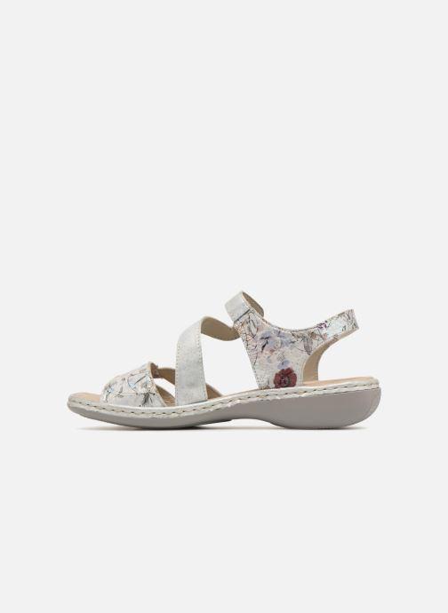 Sandali e scarpe aperte Rieker Poppy 65969 Argento immagine frontale
