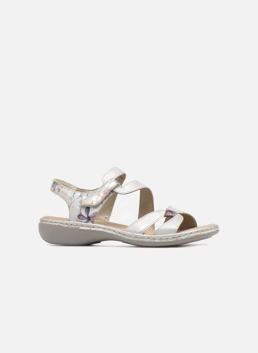 Sandali e scarpe aperte Rieker Poppy 65969 Argento immagine posteriore
