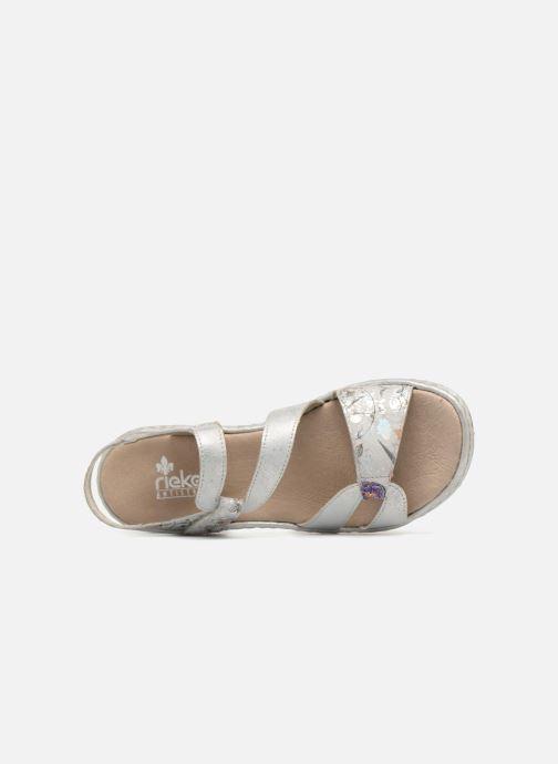 Sandali e scarpe aperte Rieker Poppy 65969 Argento immagine sinistra
