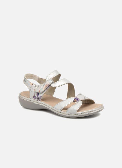Sandales et nu-pieds Rieker Poppy Argent vue détail/paire