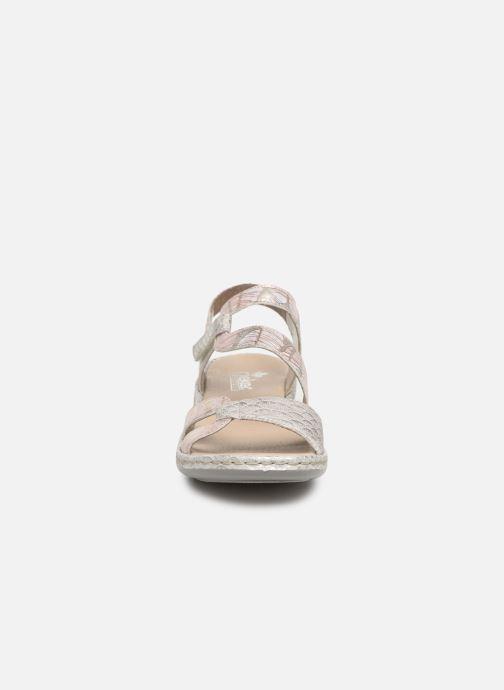 Sandales et nu-pieds Rieker Poppy Gris vue portées chaussures