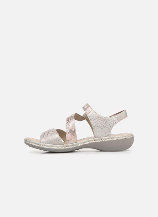 Sandales et nu-pieds Rieker Poppy Gris vue face