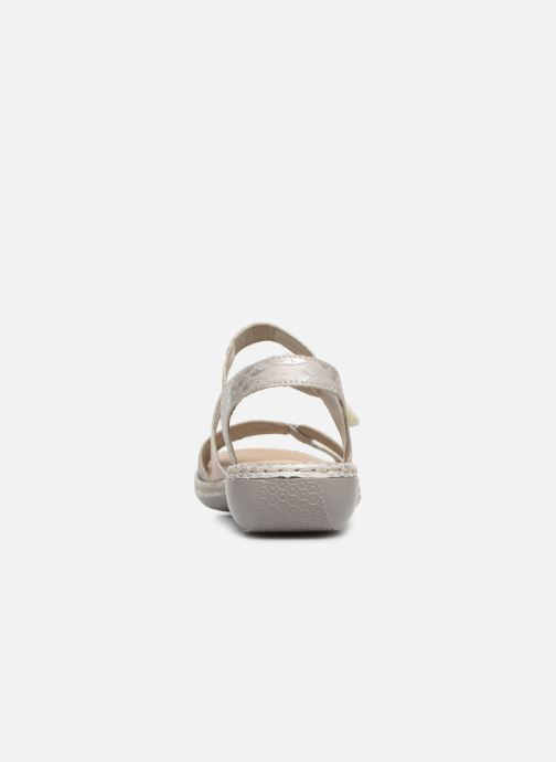 Sandals Rieker Poppy 65969 Grey view from the right