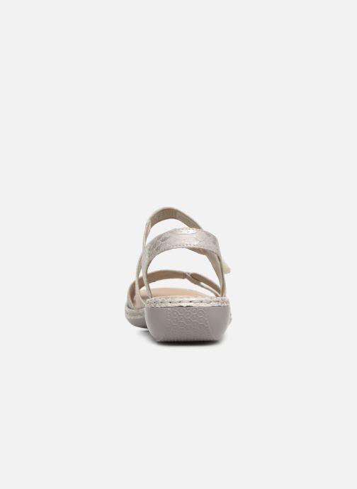 Sandales et nu-pieds Rieker Poppy Gris vue droite