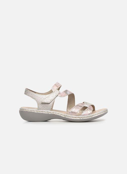 Sandales et nu-pieds Rieker Poppy Gris vue derrière