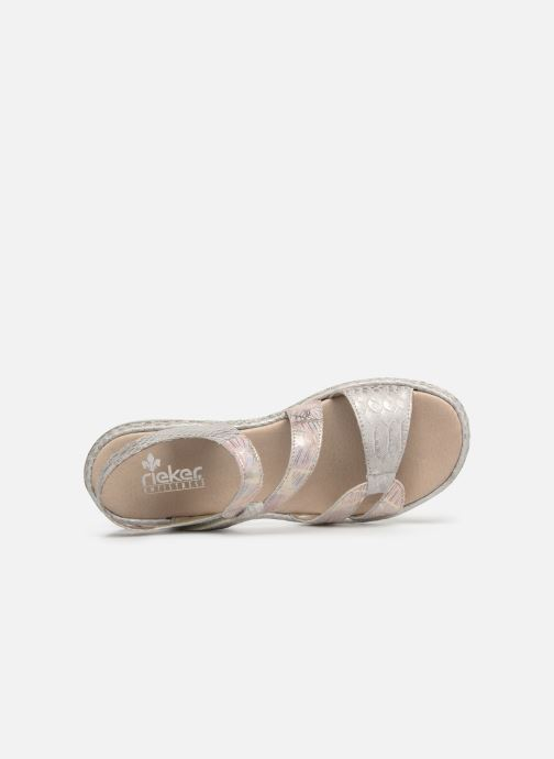Sandals Rieker Poppy 65969 Grey view from the left