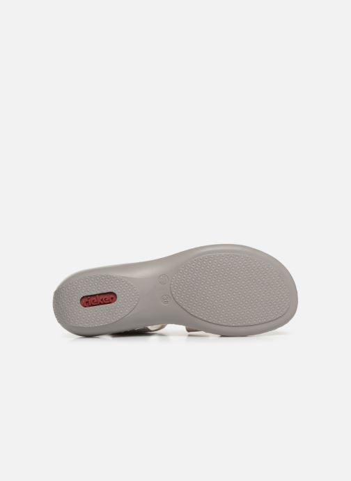 Sandals Rieker Poppy 65969 Grey view from above