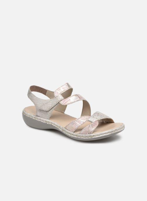 Sandales et nu-pieds Rieker Poppy Gris vue détail/paire