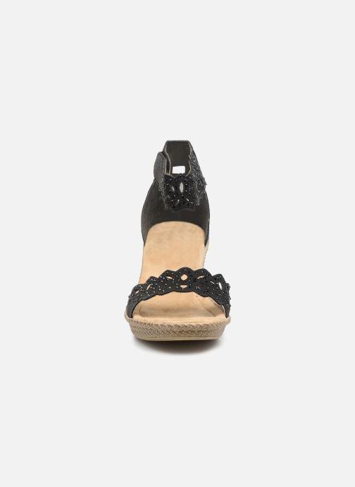 Sandalen Rieker Killa schwarz schuhe getragen