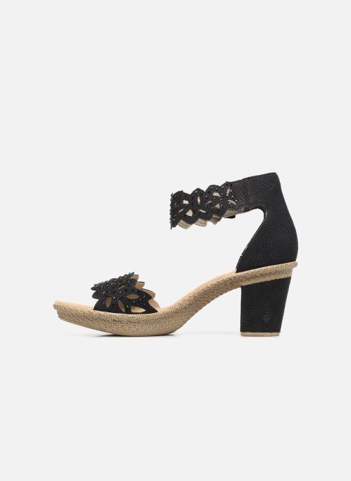 Sandales et nu-pieds Rieker Killa Noir vue face