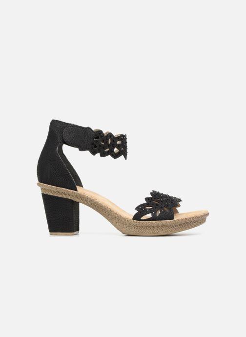 Sandales et nu-pieds Rieker Killa Noir vue derrière