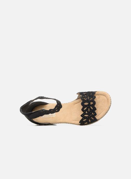 Sandales et nu-pieds Rieker Killa Noir vue gauche