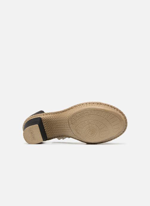 Sandales et nu-pieds Rieker Killa Noir vue haut